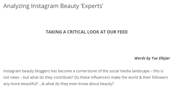 Instagram Beauty Experts